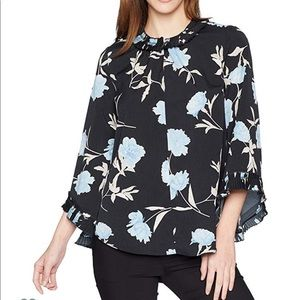 Ellen Tracy long sleeve pleated detail blouse